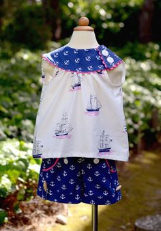 Sailor Set by LittlePinkCarousel on Etsy, $58.00