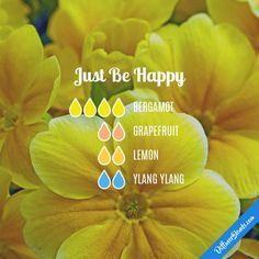 Just Be Happy - Essential Oil Diffuser Blend #Essentialoildiffusers