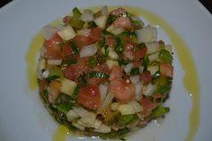 Tartar o ensalada de tomate