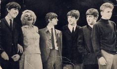Beatles 1963 by judith74, via Flickr. With Marlene Dietrich at the Prince of Wales Theatre, Nov 1963. Tommy Steele is on the right.