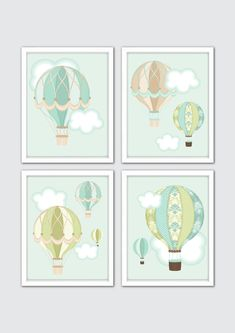 Hot Air Balloon vivaio arte decorazione di RomeCreations su Etsy