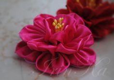 Мастер-класс Аленький цветочек. Канзаши