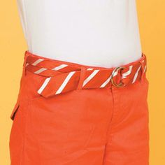#fashion #tie #belt #diy #craft #orange #hipster