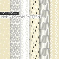 Ivory digital paper, hand drawn pattern, abstract graphic, grey, gray, white, beige, ivory, drawing, doodles, digital paper, minimalist