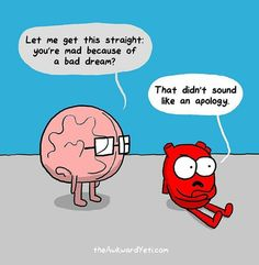 Brain vs heart comics, hilarious!