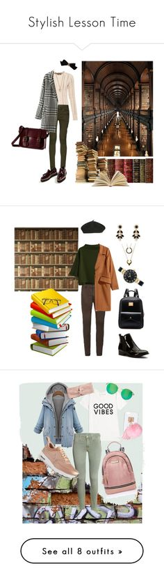 """""""Stylish Lesson Time"""" by keepfashion92 ❤ liked on Polyvore featuring Superdry, BlendShe, Chanel, Dr. Martens, LC Lauren Conrad, H&M, Wanted, WithChic, Vera Bradley and Anne Klein"""