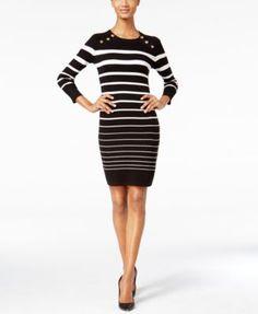 Tommy Hilfiger Belted Shirt Dress, Chain Print - Dresses - Women ...