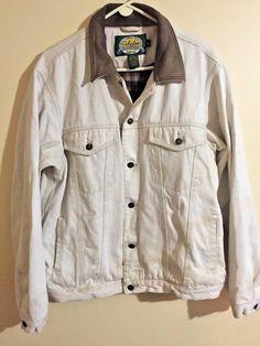 Cabela's Canvas Twill Chore Jacket Flannel Plaid Barn Field Coat Mens L TALL #LLBean #BasicCoat