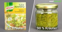 Fertige Salat-Kräutermischungen aus dem Supermarkt enthalten meist viele Zusatz… Finished salad-herb mixtures from the supermarket usually contain many additives and little herbs. Create your own spice mix from just a few ingredients yourself! Cooking Recipes, Healthy Recipes, Free Recipes, Seasoning Mixes, Spice Mixes, Food Blogs, Diy Food, Yummy Food, Good Food