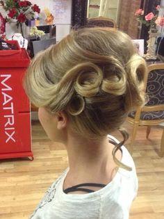 Gorgeous mr self ridge style wedding hair by Angie