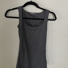 Zara top Gray top, you can wear for an undershirt or as a top. The 4th photo is inside out so you can see there is double fabric for the bar area. Super tight and soft! Zara Intimates & Sleepwear Chemises & Slips