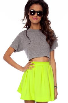 Scuba Dooba Skirt in Neon Lime