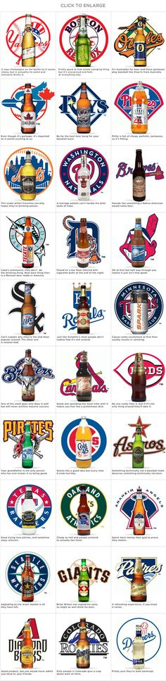 MLB beers.  There's a lot of truth to this.  HA! And I do like Dos XX