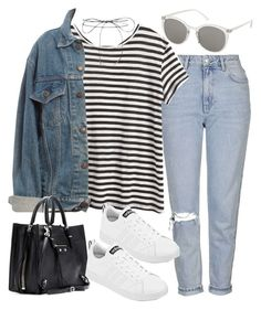 """""""Sin título #2041"""" by alx97 ❤ liked on Polyvore featuring Topshop, Proenza Schouler, Levi's, Lilou, adidas and Balenciaga"""
