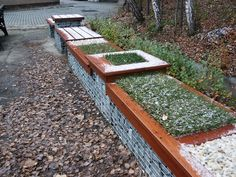 Gabion Fence, Beautiful Landscapes, Stepping Stones, Nature, Outdoor Decor, Home Decor, Gardens, Ideal House, Houses