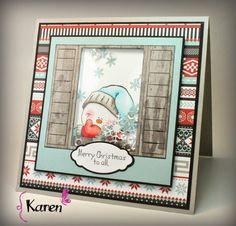 Karen Day for One Crazy Stamper using High Hopes Rubber Stamps.