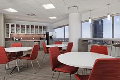 Bernhardt Design's Story table at Northeastern University by Rodgers Builders