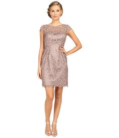 Adrianna Papell Cap Sleeve Lace Sheath. $82 (reg$180) (BTW - This was $55, so maybe it will go back down.) #weddingguest