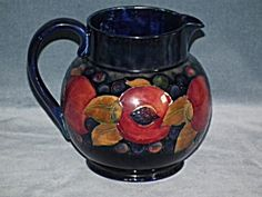 Large William Moorcroft Pomegranate Jug or Pitcher