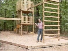 10 DIY Wooden Swing Set Plans: DIY Network's Free Swing Set and Double-Decker Playhouse Plan