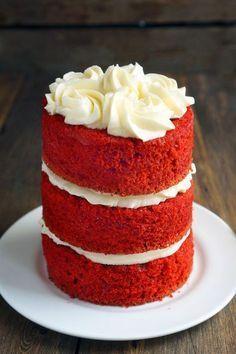 Американский торт Красный бархат, Red Velvet - пошаговый рецепт с фото, фуд-блог и интернет-магазин с доставкой по России, andychef.ru