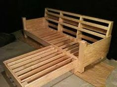 Image result for How to build trailer couches