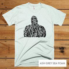 Notorious B.I.G. Biggie Smalls T-Shirt - Notorious B.I.G. Biggie Men's tee - Hip Hop Rap R&B music S-XL -  Light Grey T-shirt