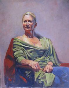 "16""x20"" Oil on canvas. Portrait of a woman. Artist: Tatyana Holodnova"