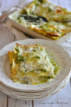 Lasagnes Express Courgettes-Bleu d'Auvergne – The Heart In The Stomach Veggie Recipes, Pasta Recipes, Vegetarian Recipes, Cooking Recipes, Meals Without Meat, Fabulous Foods, No Cook Meals, Food Photo, Summer Recipes