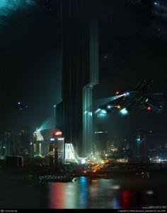 "neodusk:  ""Control Tower Incident"" by Nikita Byanov—  .n/d/s/k"