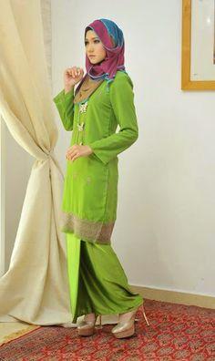 baju kurung moden hijau