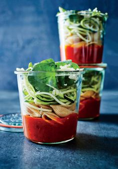 If sending this soup to school in a lunch box, pack in an insulated thermos and top off with hot water at home. Use a spiralizer to make...