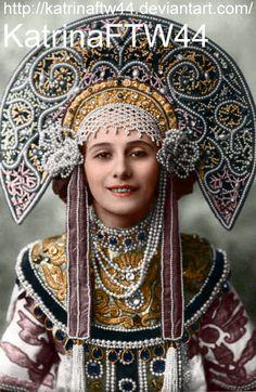 Anna Pavlova in kokoshnik by KatrinaFTW44