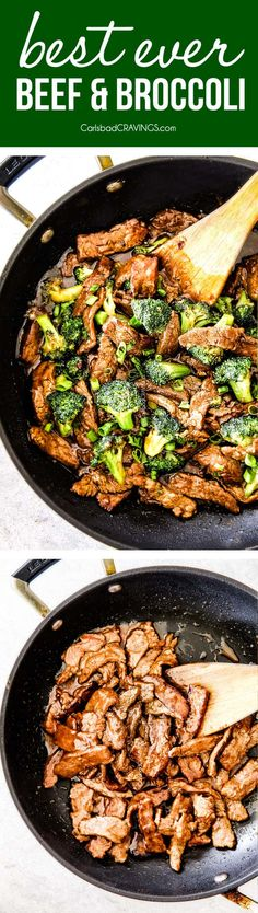 Secret Ingredient, Better Than Takeout! Beef and Broccoli - Tender slices of beef that are SO juicy, SO flavorful as they soak up every savory essence of the marinade and the rich, savory sauce. BEST I'VE EVER HAD via @carlsbadcraving