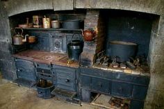"I would love to have a kitchen like this in a cabin to use when being a ""pioneer woman"" urge hits BUT not for every day use!"