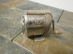vintage BOSTON KS Pencil Sharpener , hand crank , desk or wall mount, sharpens 8 sizes , office supplies by mauryscollectibles on Etsy