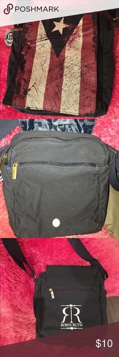 Robin Ruth Flag Crossbody Bag Excellent condition. Bought in Puerto Rico. Robin Ruth Bags Crossbody Bags