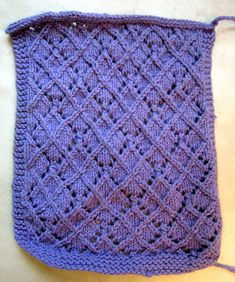 Ravelry: yarnover's Lace and Twist-stitch 'Argyle' pattern