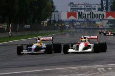 Nigel Mansell - Williams Renault FW14b vs Ayrton Senna - McLaren Honda MP4/6, 1991 Mexican Grand Prix (Autódromo Hermanos Rodríguez, Mexico)