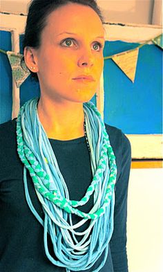 a t-shirt necklace! Easy diy project.