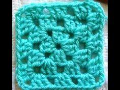 como fazer quadradinhos de croche ( iniciantes....)