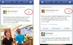 Facebook tries new designs for mobile page-Like and app install ads