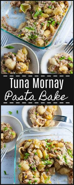 Easy tuna mornay pasta bake made with cream of mushroom soup.  Tastes rich and creamy, but amazingly has no cream or milk!  Lots of flavour with few ingredients.  Perfect.