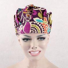 9 Kinds Pattern Flower Printing Scrub Cap Bouffant Medical Surgical Surgery Hat DAJ9018