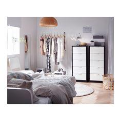 ASKVOLL Cassettiera con 5 cassetti - marrone-nero/bianco - IKEA