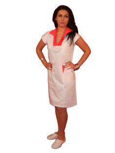 Sarafan inchidere cu capse CM006 - aspect elegant, confort maxim, rezistenta sporita. Destinate industriei alimentare, farmaceutice sau spitalelor, ideal pentru utilizarea de catre medici, asistente medicale in cabinete medicale , spitale, policlinici,etc. Produsele sunt realizate din materiale agreate de normele UE: 65% poliester; 35% bumbac.  http://incaltamintemedicala.ro/uniforme-medicale/cm006-sarafan-inchidere-cu-capse