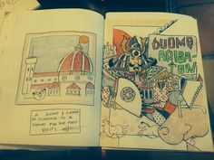 """duomo arigato!"" From red sketch book for McNay"