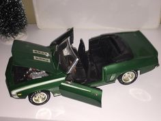 1969 Chevrolet Camaro Convertible SS 396 1/18 diecast car metal car model car toy car vintage car antique car Green Christmas gift present by ChasingToyCars on Etsy
