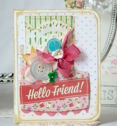 Hello Friend Handmade card por iralamijashop en Etsy, $7.25