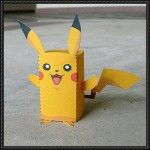 Pokemon - Cube Pikachu Free Paper Toy Download